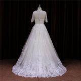 Luva curta que perla o vestido de casamento do OEM de China Facotry