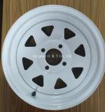 트레일러를 위한 13*4.5에 의하여 직류 전기를 통하는 압축 공기를 넣은 강철 바퀴 변죽 그리고 타이어