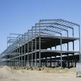 Estrutura longa pré-fabricada do frame de aço da extensão de Q235 Q345