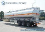 De Semi Aanhangwagen van de Tanker van de Brandstof van de Aanhangwagen 40000L van de Tank van de Olie van de tri-As van het roestvrij staal