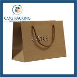 Bolso de compras impreso papel de la insignia