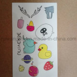 Tatuagem Eco-Friendly dos desenhos animados dos miúdos, etiqueta provisória do tatuagem para crianças