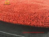 Relvado sintético da qualidade superior para o tênis e trilha com cor vermelha