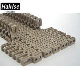 Kleines Radius-Fieberhitze-Rasterfeld-modulare Plastikriemen für Nahrungsmittelgetränkemaschinerie