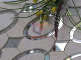 Azulejo de mosaico de cristal del corte del jet de agua de la mezcla del cuarzo (CFW48)