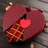 Papier personnalisé Fancy Chocolat Boxes en gros Coeur en forme avec serrure