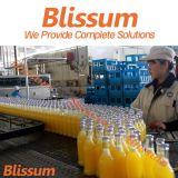 레몬 주스 병에 넣어진 충전물 기계 생산 공장