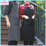 Algodón del delantal de la fábrica/delantal al por mayor del poliester para la cocina/cenar/casero