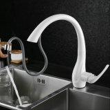 Blancs à levier unique estampés retirent le mélangeur de bassin de cuisine