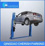 Elevación hidráulica simple y práctica del poste dos del coche