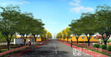 完全なプロセスの緑の道のPespectiveのレンダリングの画像