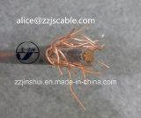 Cable redondo de cobre concéntrico del PVC del cable 2*8AWG XLPE de la baja tensión