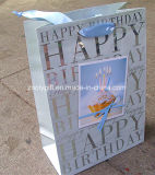 Bolsas de papel de regalo al por mayor de Estampación feliz cumpleaños Impresión