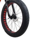 다이아몬드 무늬가 있는 동물에 의하여 숨겨지는 건전지 전기 뚱뚱한 타이어 자전거