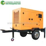 トレーラーか無声タイプ200kVA水は使用された病院のためのディーゼル発電機を冷却した