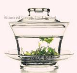 Подгонянная стеклянная чашка чая чашки боросиликатного стекла сопротивления жары чашки