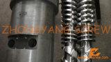 제조 PVC 관 두금속 쌍둥이 원뿔 나사 배럴