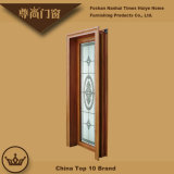 Portello di alluminio della stoffa per tendine della decorazione di vetro del fiore dello specchio del Brown di colore del legno di sandalo
