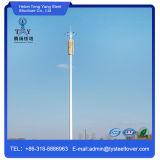 Gegalvaniseerde Toren van de Telecommunicatie van de Buis van het staal de Enige