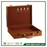 Коробка хранения первого класса кожаный деревянная с ручкой