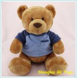 A mascote personalizou brinquedos com o urso grande da peluche de pano