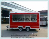 Remorques mobiles galvanisées plongées entièrement chaudes Van de camion de nourriture