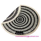 最上質の100%年の綿円形の円によって印刷される浜毛布