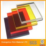 Plexiglás de acrílico transparente/del color de la hoja del plástico PMMA Pelxiglass de la hoja