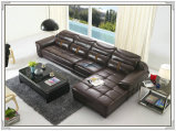 Sofa de salle de séjour, sofa en cuir, sofa de section (M221)