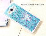 Couverture de fantaisie de téléphone mobile de caisse de sable mouvant pour la caisse liquide de téléphone de sable de la galaxie A7 de Samsung