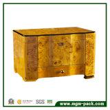 Cedro gama alta de madeira com a caixa de charuto do armazenamento da gaveta da bandeja