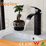 正方形のBlack Orb Brass Single Handle Waterfall Basin FaucetかCopper Water Tap Mixer