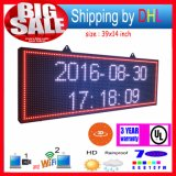 P13 WiFi controllo LED di rotolamento display RGB esterna 7-Color Effetti 3D LED Segni 39X14inch programmabile Display Panel