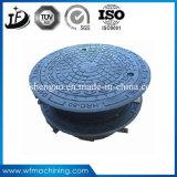 Крышка люка -лаза отливки песка чугуна En124 C250 D400 E600 F900 круглая дуктильная