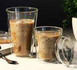 Taza de café doble de Starbucks del vidrio de Borosilicate de la pared 200 - 400ml