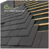 Natürliche rechteckige Form-Dach-Schiefer-Schwarz-Schiefer-Dach-Fliese