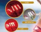 Brazal reflexivo de la seguridad de Lycra LED del estiramiento