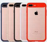 Tampa híbrida magro do caso da cor transparente nova TPU+PC para o iPhone 7/iPhone 7 Plus/6/6s/6 mais