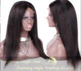 180% 조밀도 235g/PCS Natural Virgin Human Remy Hair Full Lace Wig
