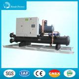 refrigeratore di acqua raffreddato ad acqua della vite industriale 500tons