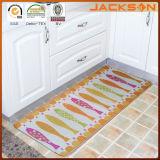 Natte d'étage de cuisine imprimée par polyester de pile de boucle