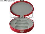 Овальная коробка упаковки подарка PU Storge формы Jy-GB49