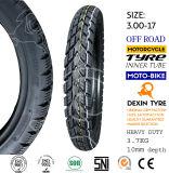 La motocicleta parte el neumático de la motocicleta del neumático de la motocicleta de la moto del neumático 3.00-17 del camino