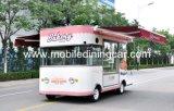 De Kar van het Voedsel Truck/Food van het baksel met het Mooie Afbaarden en Schuilplaats