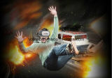 Realidade virtual que espanta-se por vidros da caixa de 3D Vr