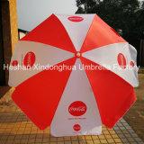 코카콜라 경사 (BU-0048WT)를 가진 옥외 선전용 일요일 우산
