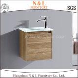 Шкаф тщеты ванной комнаты MDF дуба PVC N&L 2017 установленный стеной