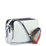 デザイナー縞によって編まれるベルトのCrossbody袋のふさPUのショルダー・バッグ