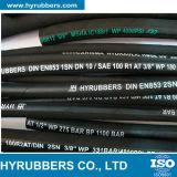In China einen Schicht-Stahldraht-umsponnenen hydraulischen Gummiöl-Schlauch hergestellt
