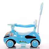 様式の補助機関車が付いているプラスチック子供車のおもちゃの振動車の乗車